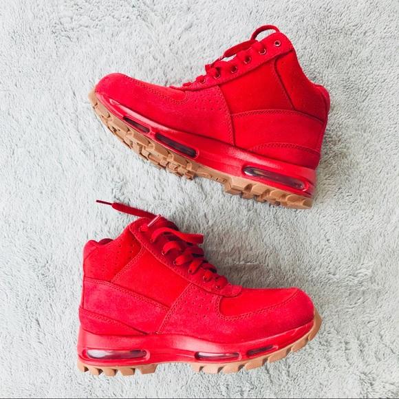 Nike air max men red ACG Geodome Sz 6.5 sneakers